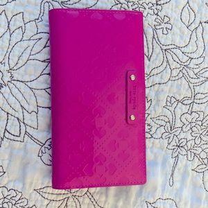 Kate Spade - hot pink large bi-fold wallet, new